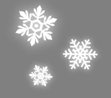 雪の結晶と黒の背景素材