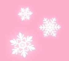 雪の結晶とピンクの背景素材