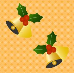 クリスマスベルの背景素材