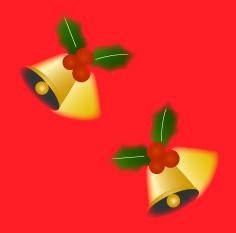 ソフトタッチなクリスマスベルの背景素材