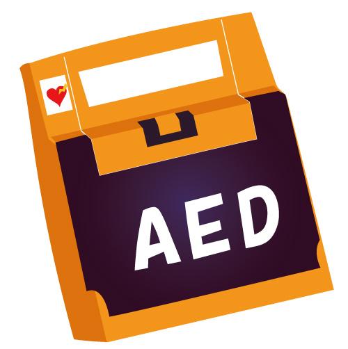 医療機器AED(枠線なし)