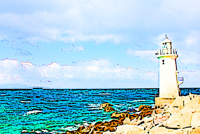 青空と灯台