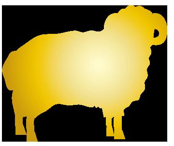 黄金の未のシルエット