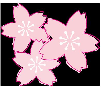 ひろがりのある桜