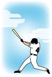 野球のイラスト入り