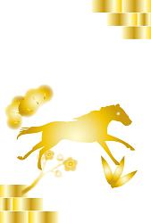 黄金に輝く馬