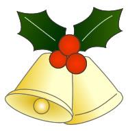 クリスマスベルとヒイラギ小