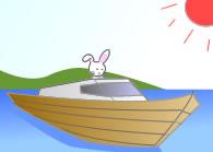 船とウサギ