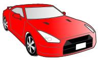 赤色の車GT-R