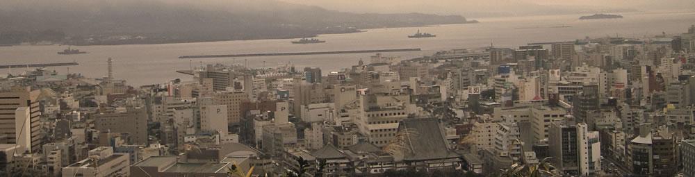 街の風景横長セピアの拡大写真