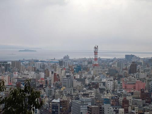 町の風景の拡大写真