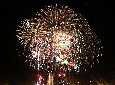 打ち上げ花火の写真