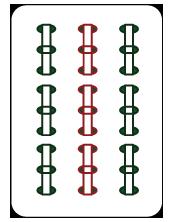 大きいサイズの麻雀牌の九索