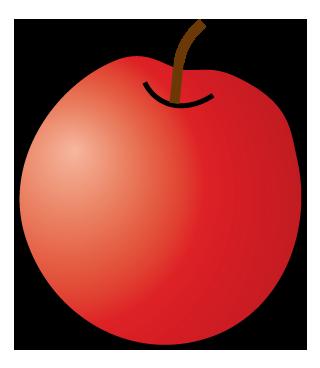 大きいサイズのりんごのイラスト