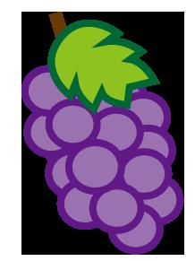 大きいサイズの葡萄のイラスト