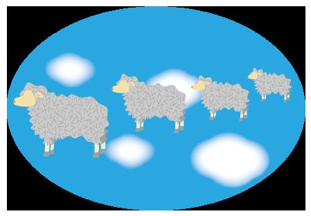 大きいサイズの羊の数え歌用
