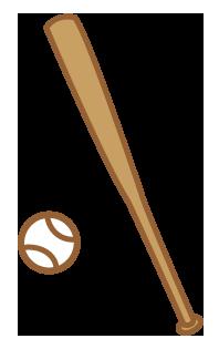 大きいサイズの木製バットとボール