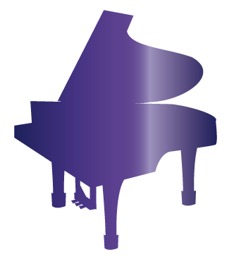 大きいサイズの紫ピアノ