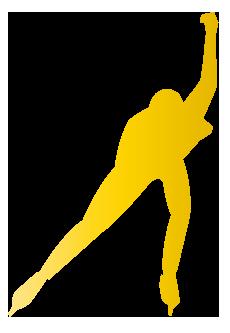 大きいサイズのスピードスケートのシルエット