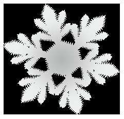大きいサイズの雪の結晶