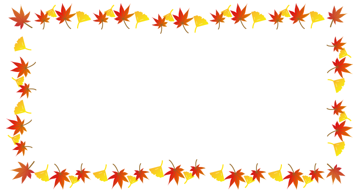 フリー素材 秋のフレーム ...