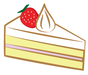 大きいサイズの苺のショートケーキ