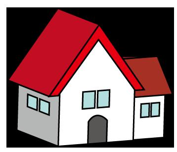 大きいサイズの立体的な家