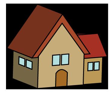 大きいサイズの家のイラスト