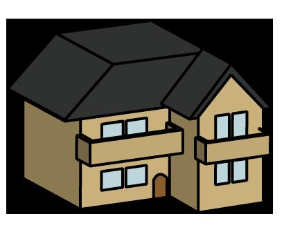 大きいサイズの住宅のイラスト