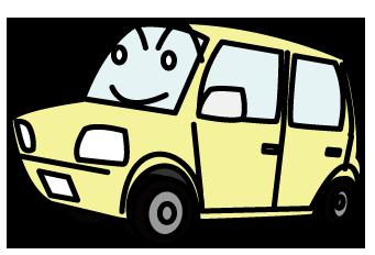 大きいサイズの安全運転を心がける軽自動車