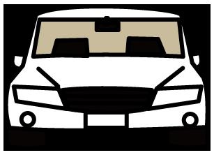 大きいサイズの白の高級車