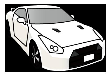 大きいサイズの白色の車