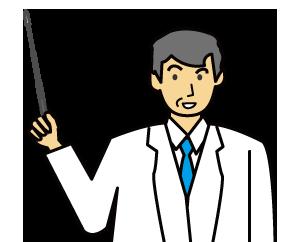 大きいサイズの説明する年配のドクター