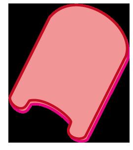 大きいサイズのピンク色のビート板