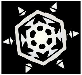 大きいサイズの六角形の雪の結晶