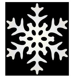 大きいサイズのシンプルな雪の結晶