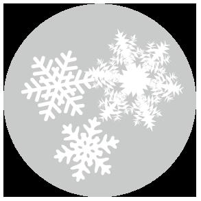 大きいサイズの顕微鏡でのぞいたような雪の結晶