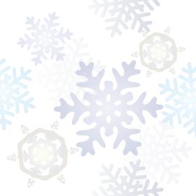 雪の結晶のパステルカラー背景