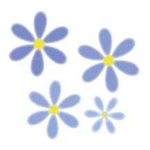 青色のお花