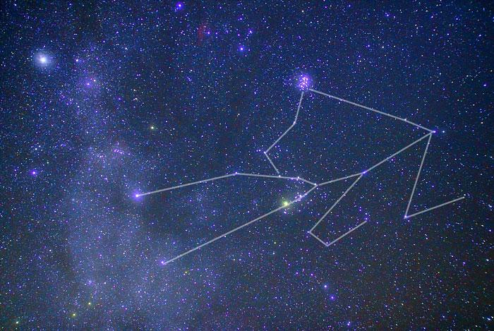 大きいサイズのおうし座の星図ラインあり