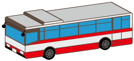 大きいサイズの観光バス
