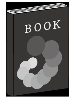 大きいサイズの黒色のカバーの閉じた本