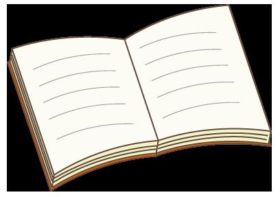 大きいサイズの開いた本
