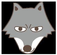 大きいサイズのオオカミの顔