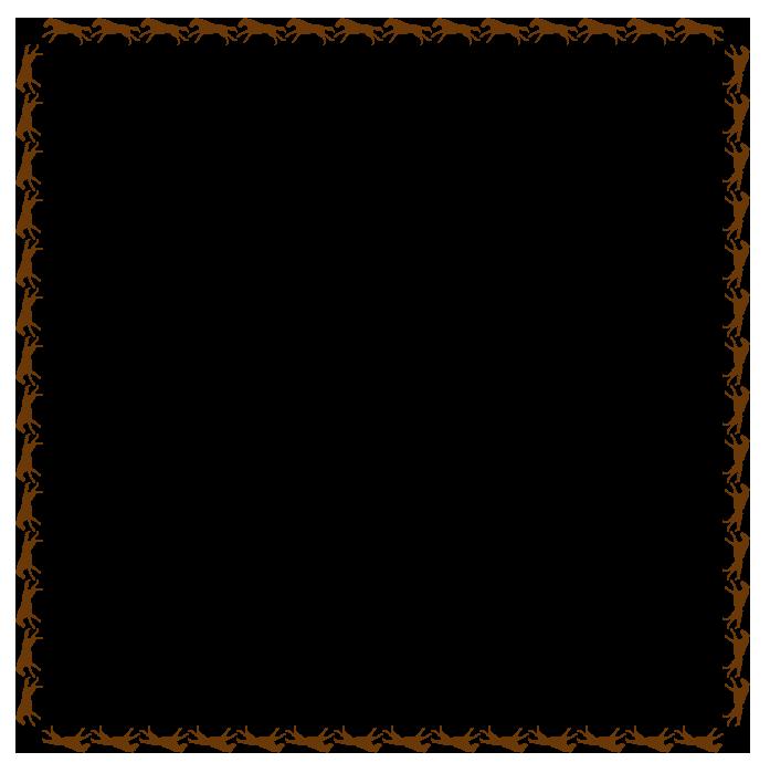大きいサイズの馬の枠素材(正方形)