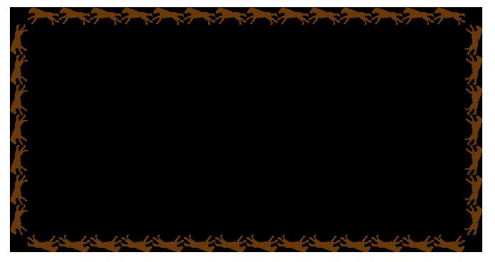 大きいサイズの午のフレーム素材(長方形)