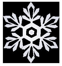 大きいサイズの雪の結晶のイラスト