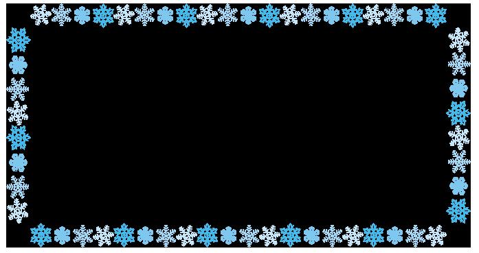 大きいサイズの雪の結晶の長方形