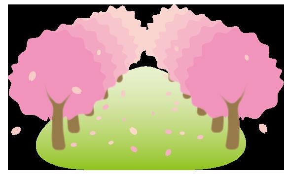 大きいサイズの桜並木