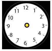 丸い時計(針なし・黒)